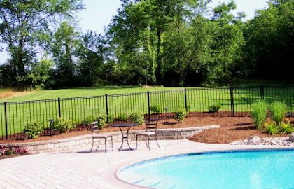 Landscaping company for fenton linden grand blanc mi for Pool landscaping pictures